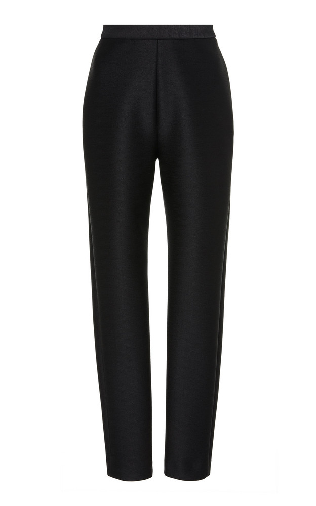 Brandon Maxwell Neoprene Slim-Leg Pants Size: 0 in black