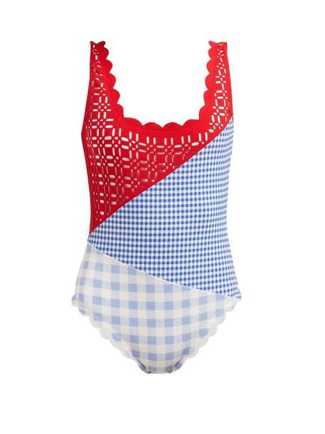 Marysia - Wainscott Patchwork Swimsuit - Womens - Red Print
