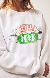 sweater,central perk,sweatshirt,friends TV show,friends,winter outfits,tv show
