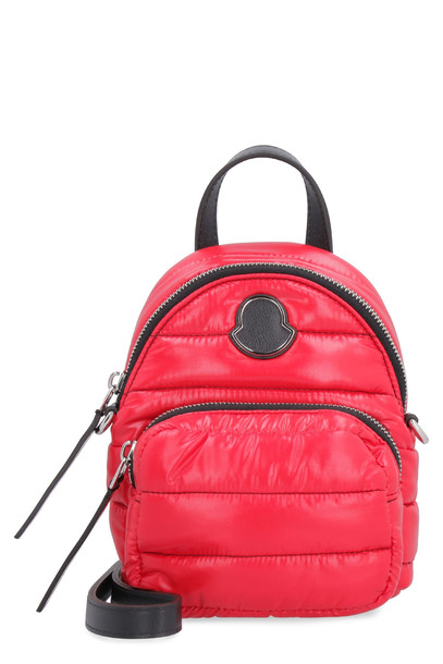 Moncler Kilia Quilted Nylon Crossbody Bag in red