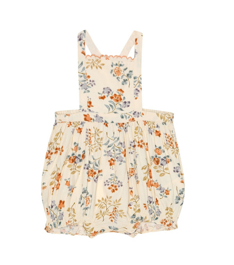 Caramel Baby Moorgate floral playsuit in white