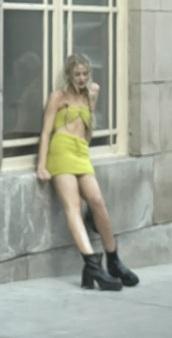 dress,neon yellow