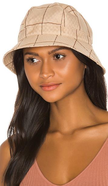 Brixton Bromley Bucket Hat in Tan