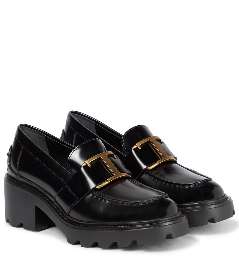 Tod's Leather platform loafers in black
