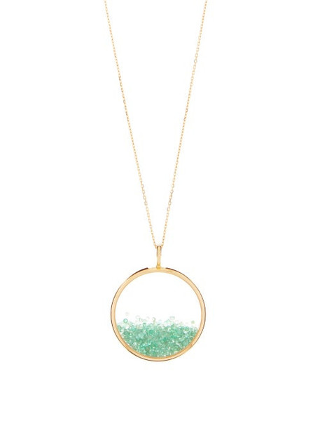 Aurélie Bidermann Fine Jewellery - Chivor Large Emerald & 18kt Gold Necklace - Womens - Yellow Gold