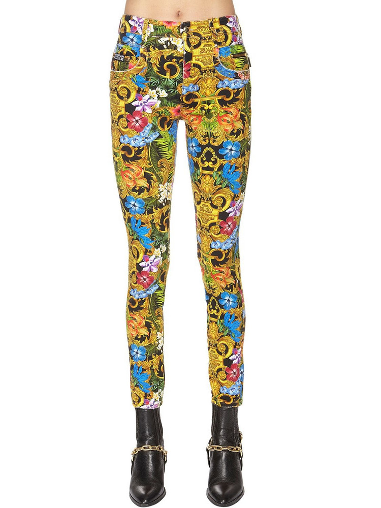 VERSACE JEANS COUTURE Printed Cotton Denim Jeans