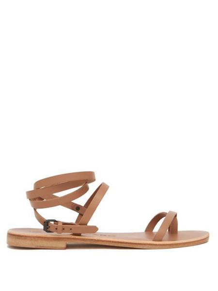 Álvaro Álvaro - Anna Wraparound Leather Sandals - Womens - Tan