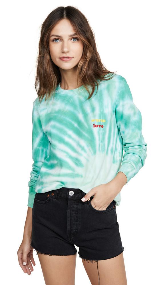 Warm Warm Love Crew Sweatshirt in green