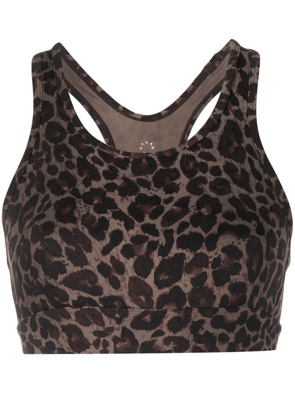 Varley Berkeley leopard-print sports bra in brown