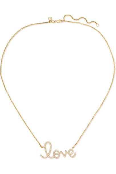 Sydney Evan - Big Love 14-karat Gold Diamond Necklace