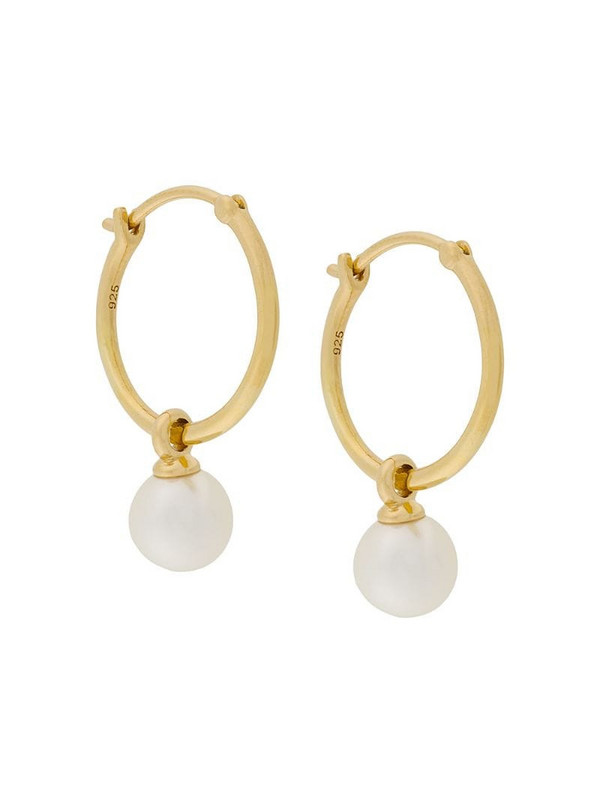 Astley Clarke Vera drop hoop earrings in metallic