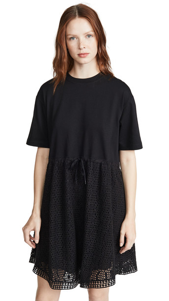 See by Chloe Drop Waist Dress in black