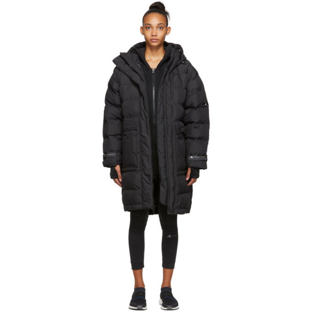 adidas by Stella McCartney Black Long Padded Jacket