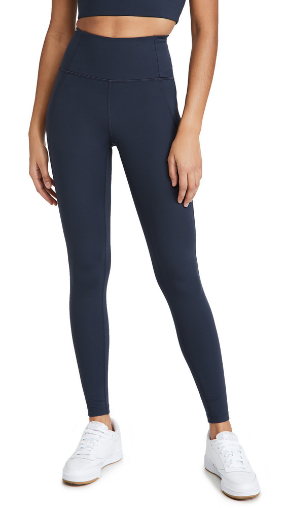 Girlfriend Collective High Rise Compressive Leggings in midnight