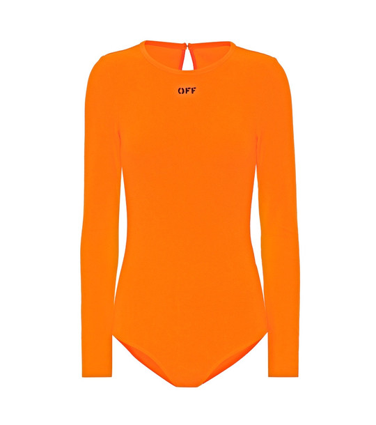 Off-White Logo bodysuit in orange