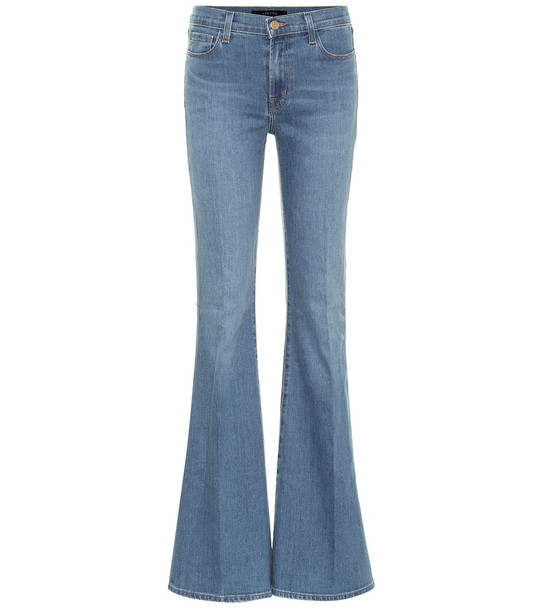 J Brand Valentina high-rise flared jeans in blue