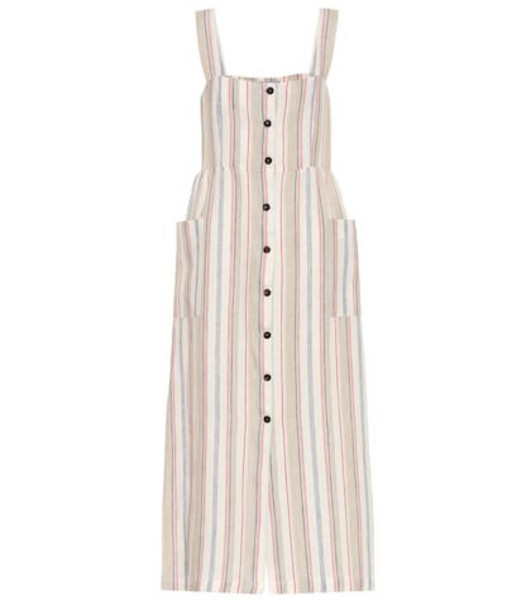 Giuliva Heritage Collection The Guiditta linen dress in beige
