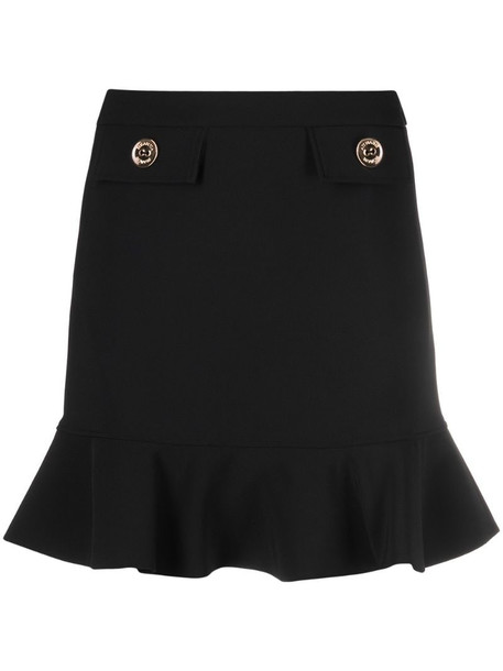 Elisabetta Franchi peplum-hem mini skirt in black