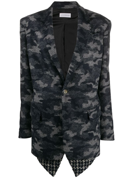 Faith Connexion camouflage print single-breasted blazer in blue