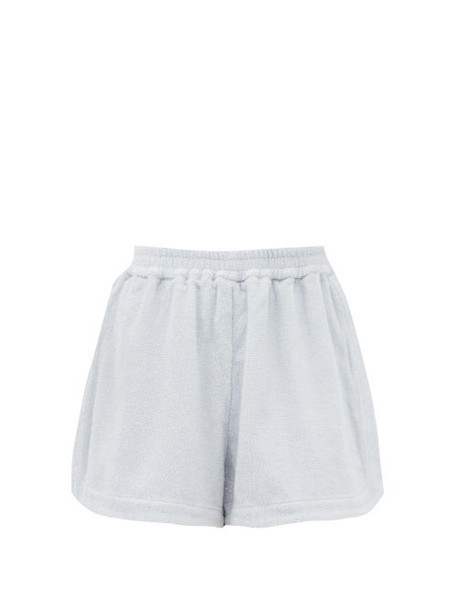 Terry - Cruise High-rise Cotton-terry Shorts - Womens - Light Blue
