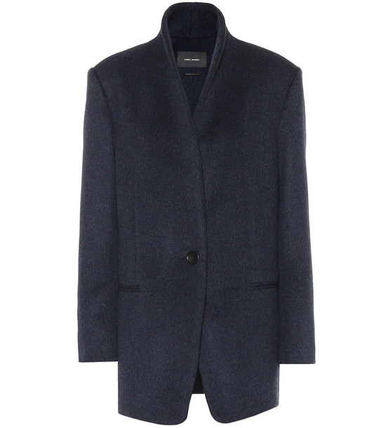 Isabel Marant Felicie wool-blend jacket in blue