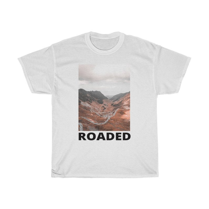 top travel t-shirt top blogger lifestyle white top t-shirt white t-shirt t-shirt streetstyle streetwear travel road trip roadtrip aerial drone with camera printed t-shirt ptinted