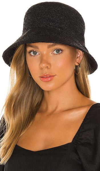 Lack of Color The Inca Bucket Hat in Black in noir