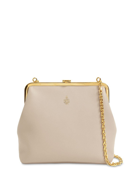 MARK CROSS Susanna Grained Leather Shoulder Bag in taupe
