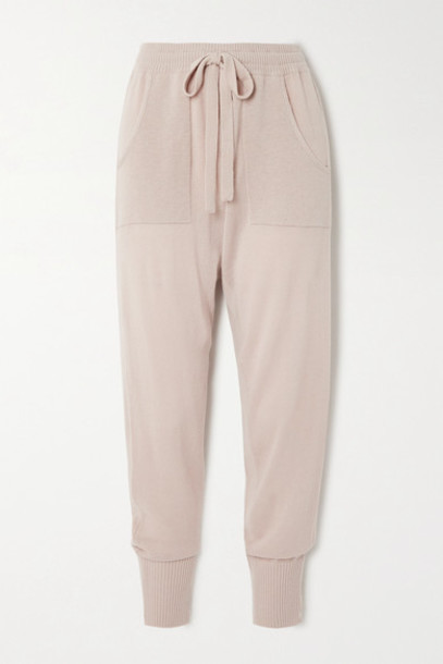 Eres - Futile Wool And Cashmere-blend Track Pants - Taupe