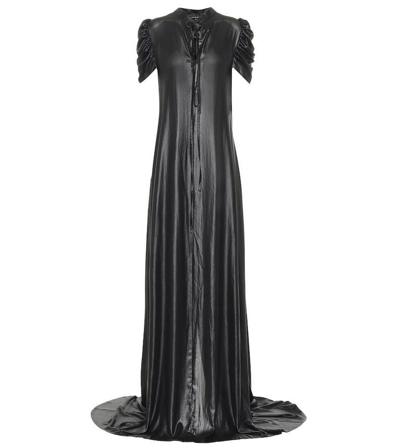 Ann Demeulemeester Charmeuse satin gown in black