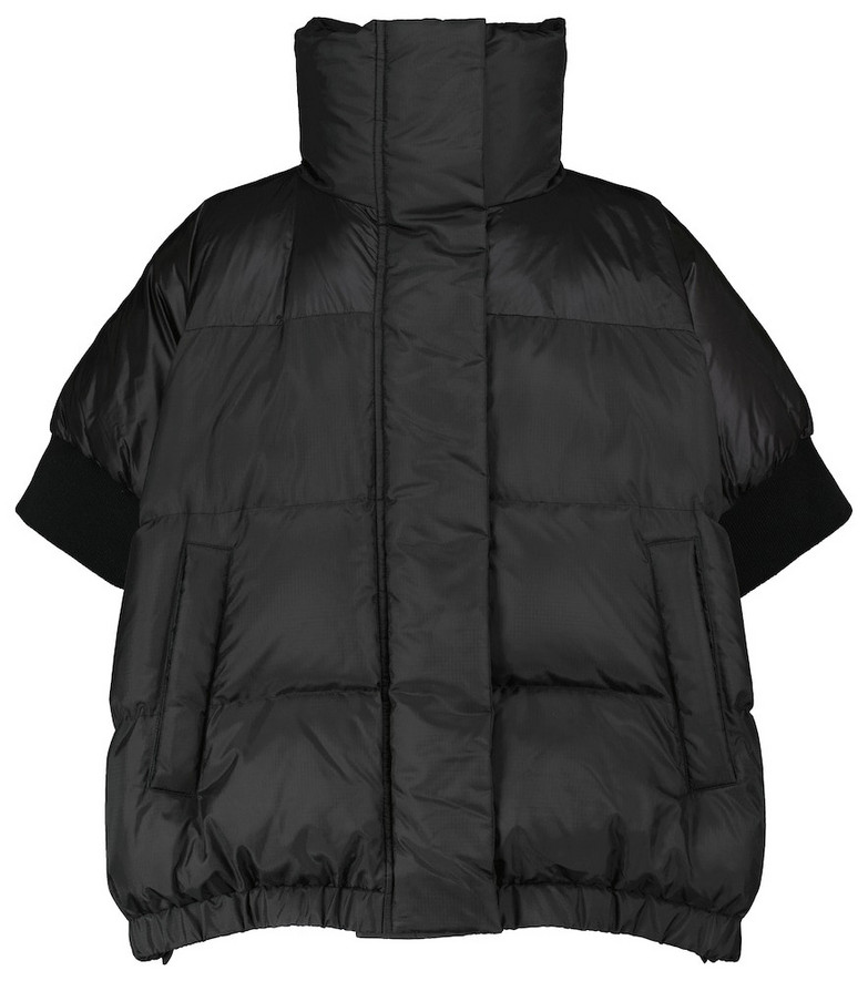 sacai Short-sleeved puffer jacket in black