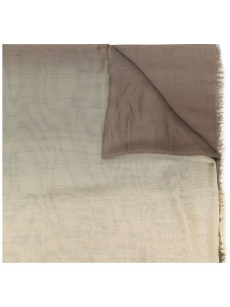 Faliero Sarti Giordy gradient-effect scarf in green