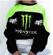 sweater,monster,green,black,monster energy,streetwear