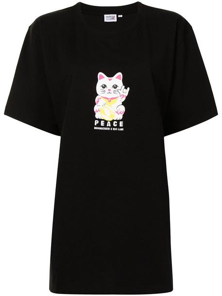 Ground Zero graphic-print cottton T-shirt - Black