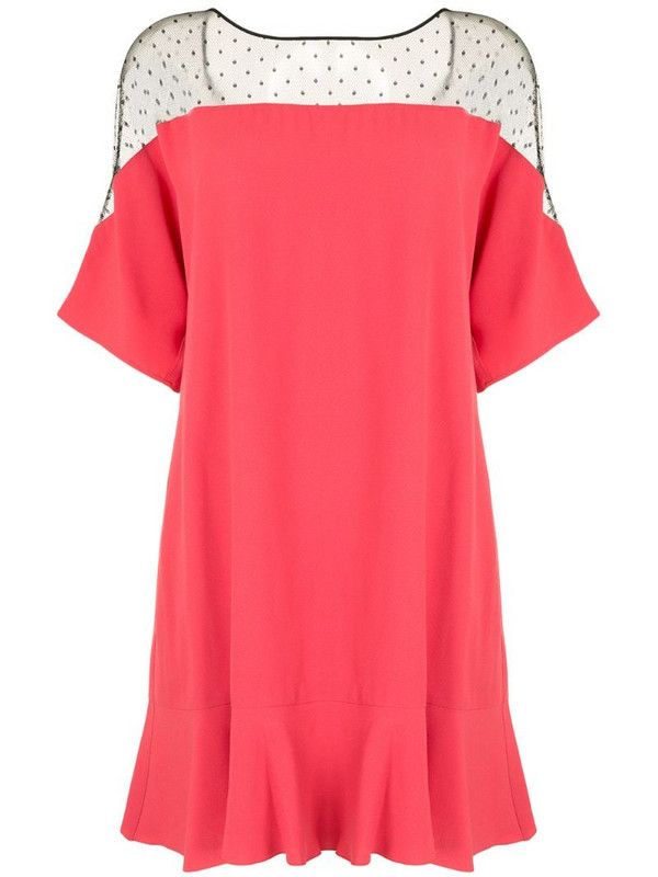 RedValentino ruffle-detailing mini dress in pink