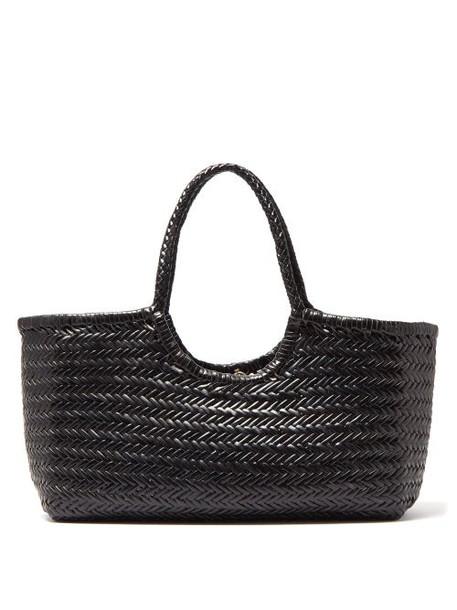 Dragon Diffusion - Nantucket Woven Leather Basket Bag - Womens - Black