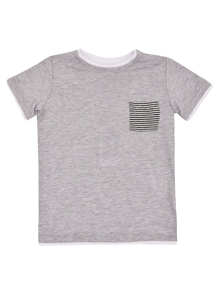 Paolo Pecora Chest Pocket Short Sleeve T-shirt in grey