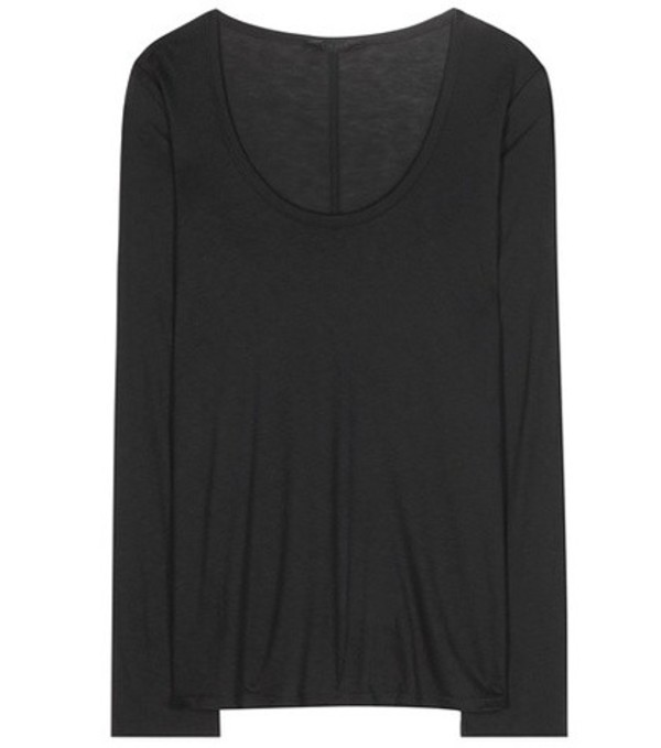 The Row Baxerton jersey top in black