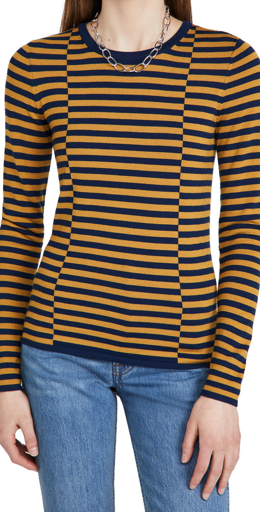 Jason Wu Stripe Sweater in navy