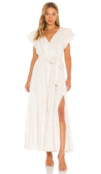 ASTR the Label Rhiannon Dress in Neutral in white / multi