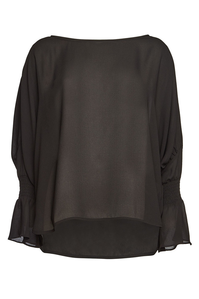 Steffen Schraut Blouse with Cut-Out Detail on Sleeves  in black