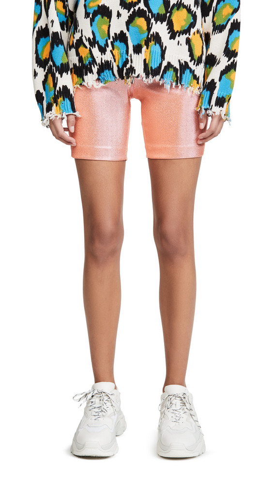 Area Bike Shorts in coral