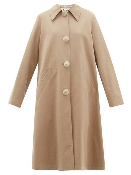 Acne Studios - Olympe Oversized Cotton Twill Coat - Womens - Beige