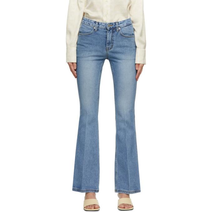 LOW CLASSIC Blue Boot Cut Jeans in denim / denim