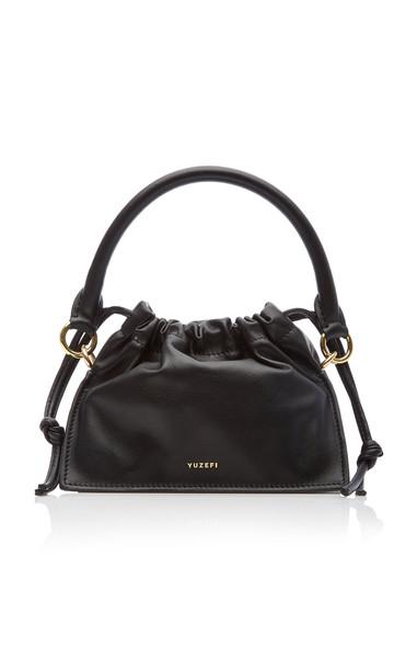 Yuzefi Bom Mini Leather Top Handle Bag in black