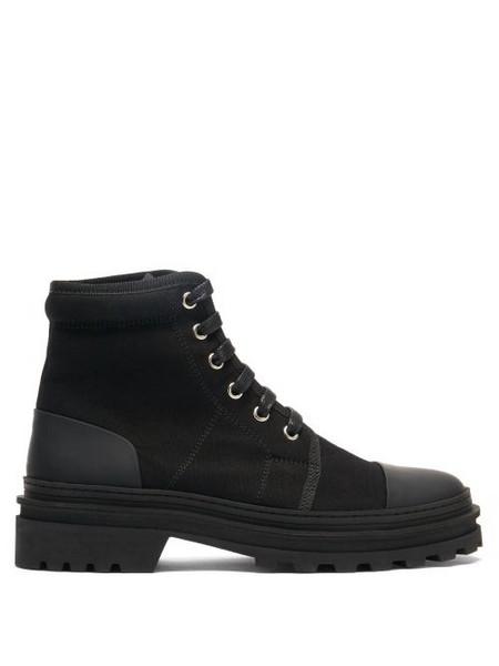 A.P.C. A.P.C. - Faustine Lace-up Canvas Ankle Boots - Womens - Black