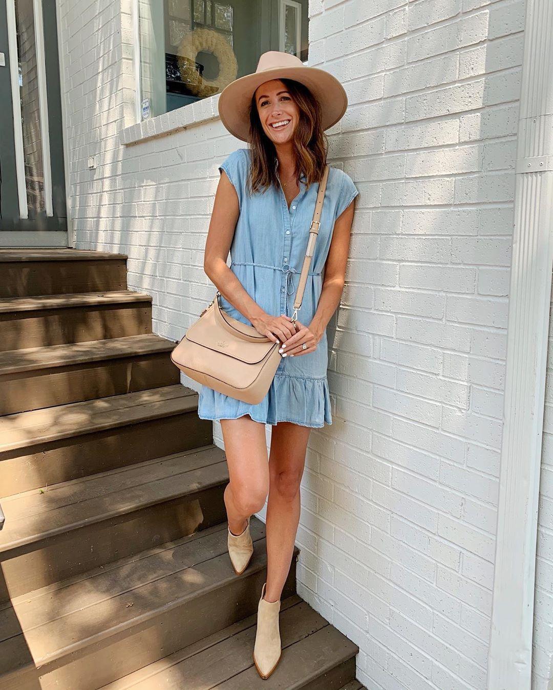 dress mini dress blue dress ankle boots crossbody bag