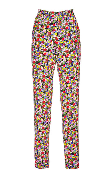 La DoubleJ Printed Silk Trousers in multi