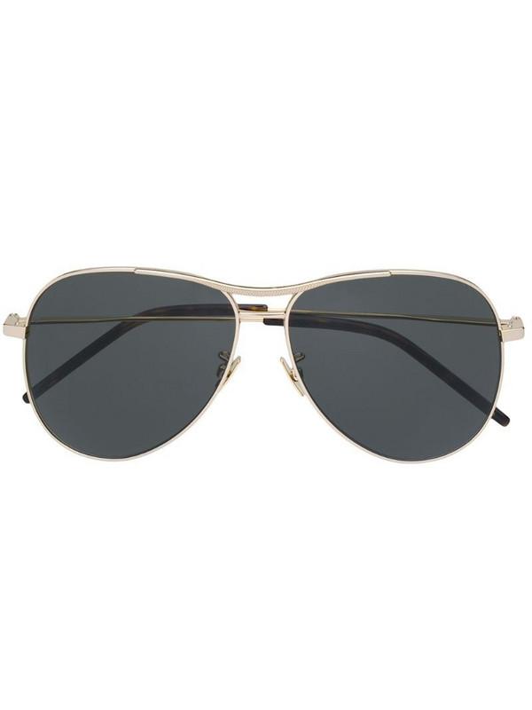 Saint Laurent Eyewear aviator style sunglasses in gold