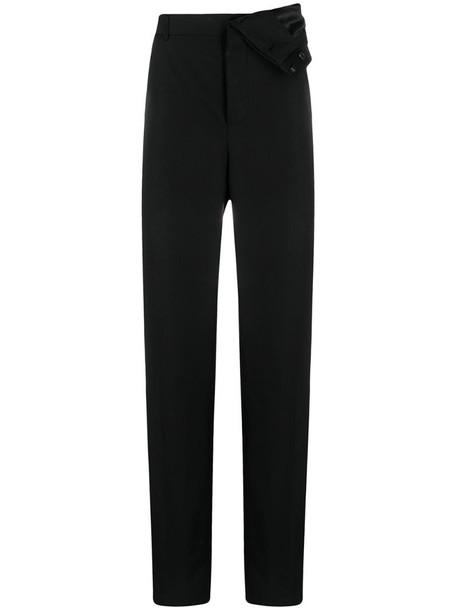 Y/Project asymmetrical draped-waist trousers in black